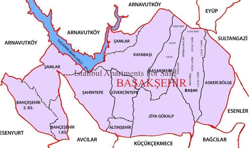 Basaksehir Map