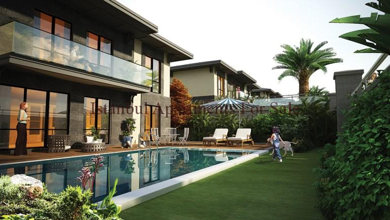 Eco friendly istanbul villas for sale in bahcesehir for Environmentally friendly homes for sale